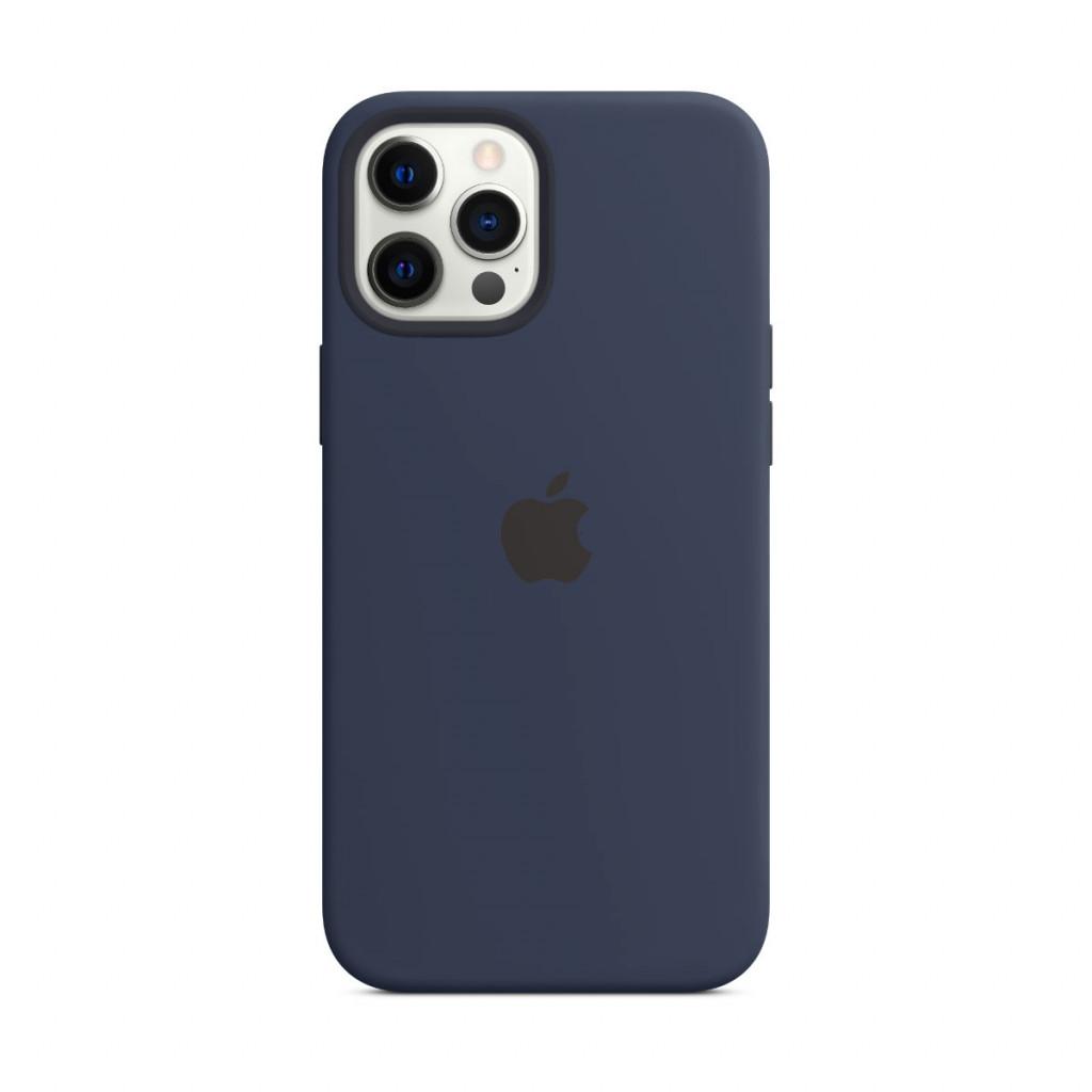 Apple Silikondeksel med MagSafe til iPhone 12 Pro Max – Dyp Marineblå