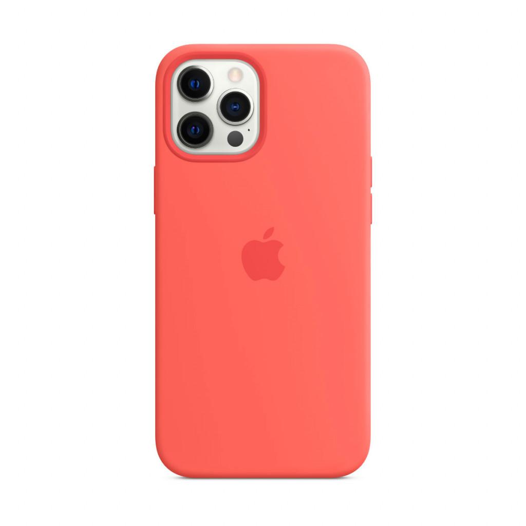 Apple Silikondeksel med MagSafe til iPhone 12 Pro Max – Rosa Sitrus