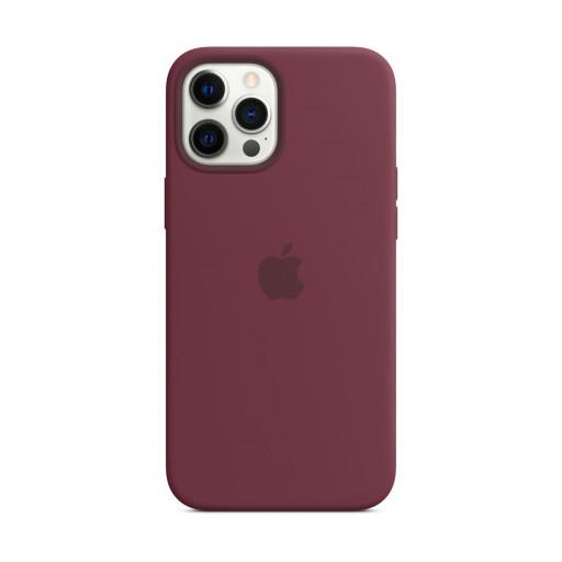 Apple Silikondeksel med MagSafe til iPhone 12 Pro Max – Plomme