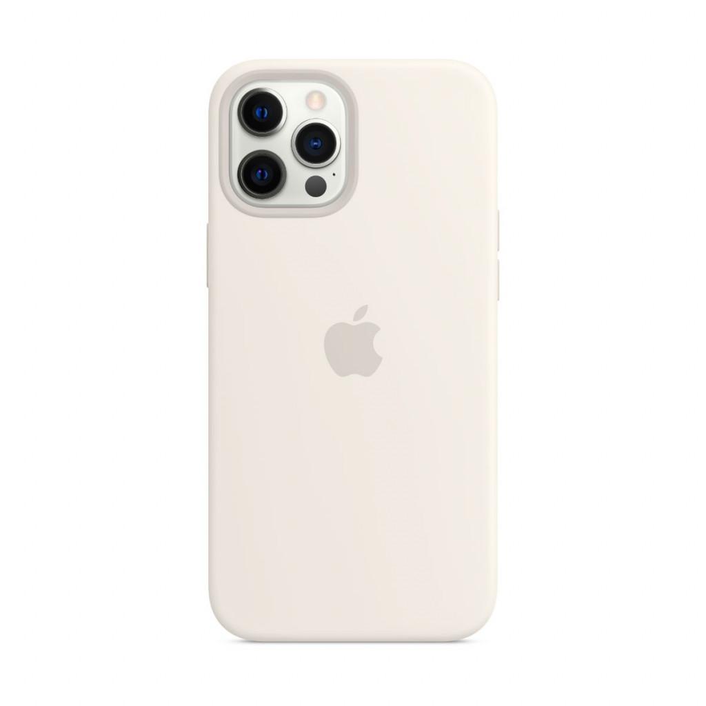 Apple Silikondeksel med MagSafe til iPhone 12 Pro Max – Hvit