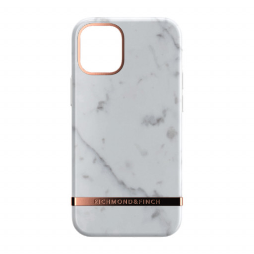 Richmond & Finch deksel til iPhone 12 mini - White Marble