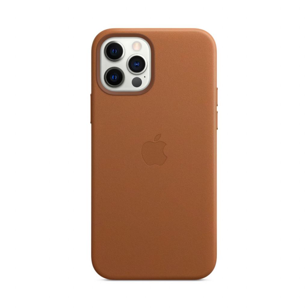 Apple Skinndeksel med MagSafe til iPhone 12 Pro / 12 – Lærbrun