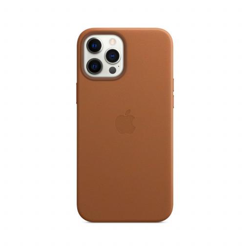Apple Skinndeksel med MagSafe til iPhone 12 Pro Max – Lærbrun