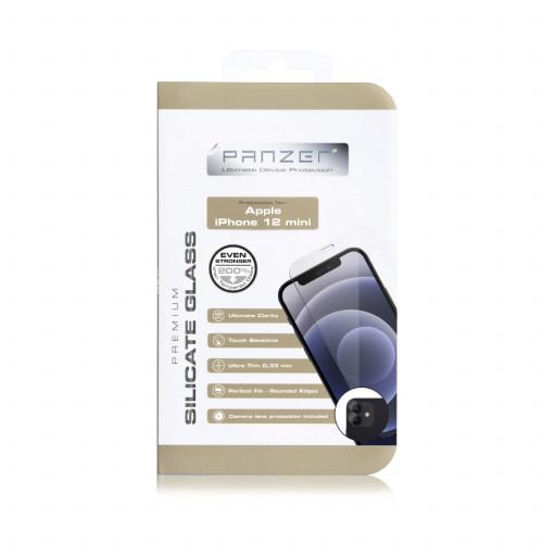 Panzer Full-Fit Silikatglass skjermbeskytter for iPhone 12 mini