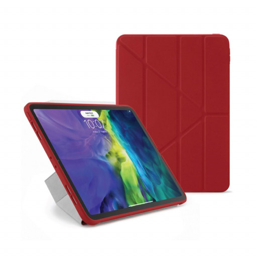 Pipetto Origami cover for iPad Air 10.9-tommer (4.gen) - Rød