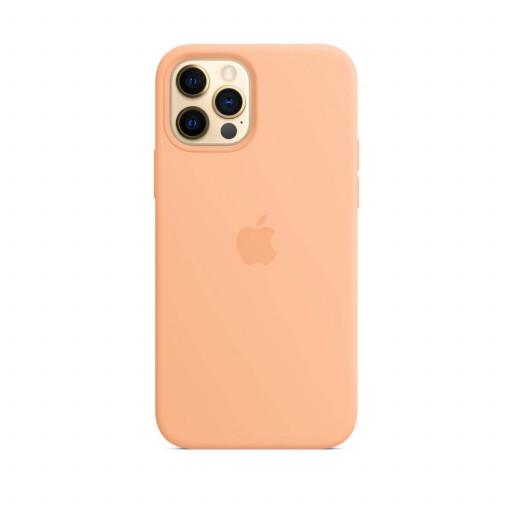 Apple Silikondeksel med MagSafe til iPhone 12 Pro / 12 – Cantaloupe
