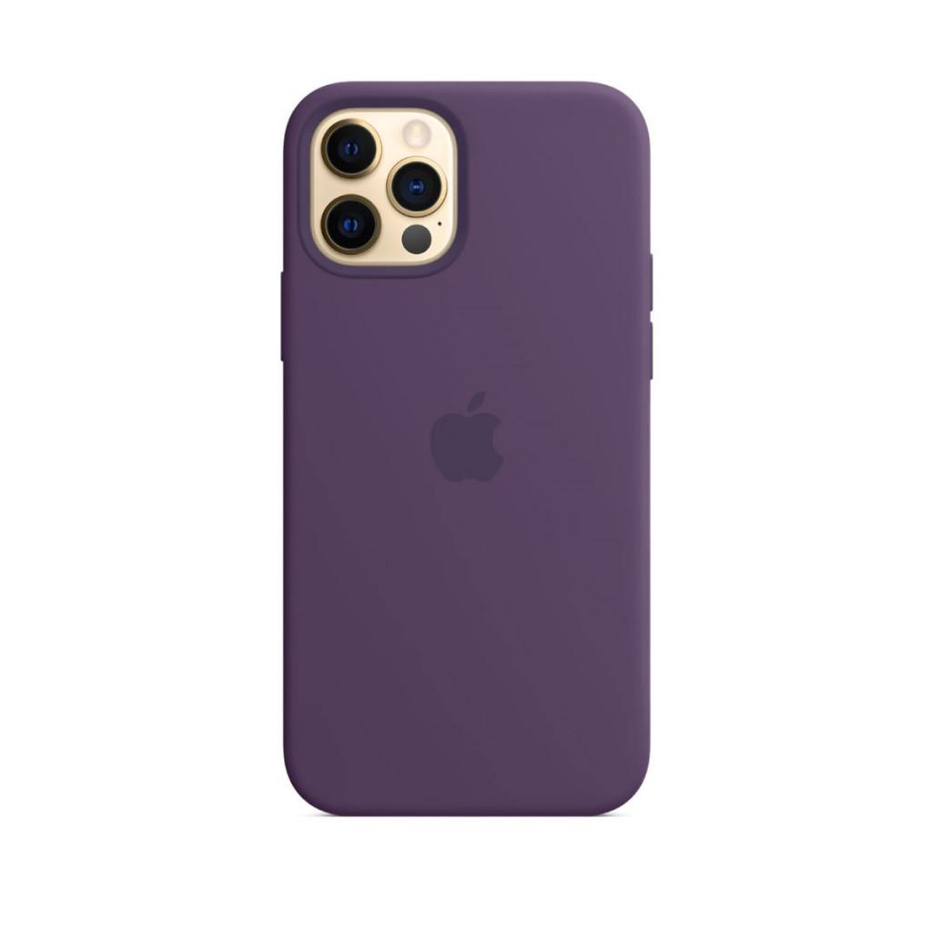 Apple Silikondeksel med MagSafe til iPhone 12 Pro / 12 – Ametyst