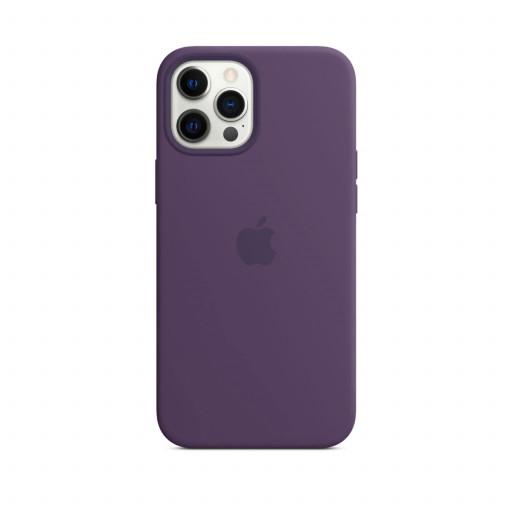 Apple Silikondeksel med MagSafe til iPhone 12 Pro Max – Ametyst