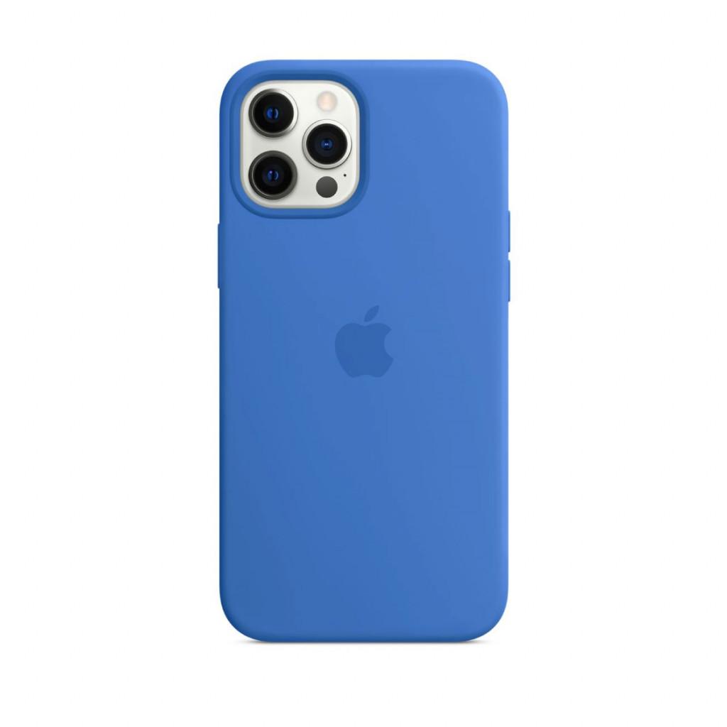 Apple Silikondeksel med MagSafe til iPhone 12 Pro Max – Capriblå