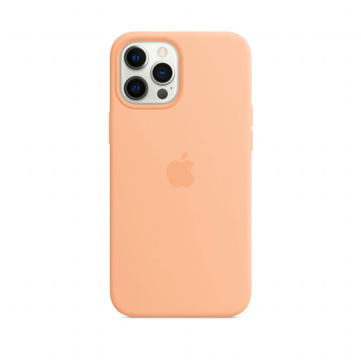 Apple Silikondeksel med MagSafe til iPhone 12 Pro Max – Cantaloupe
