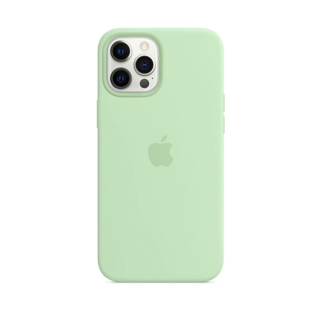 Apple Silikondeksel med MagSafe til iPhone 12 Pro Max – Pistasj