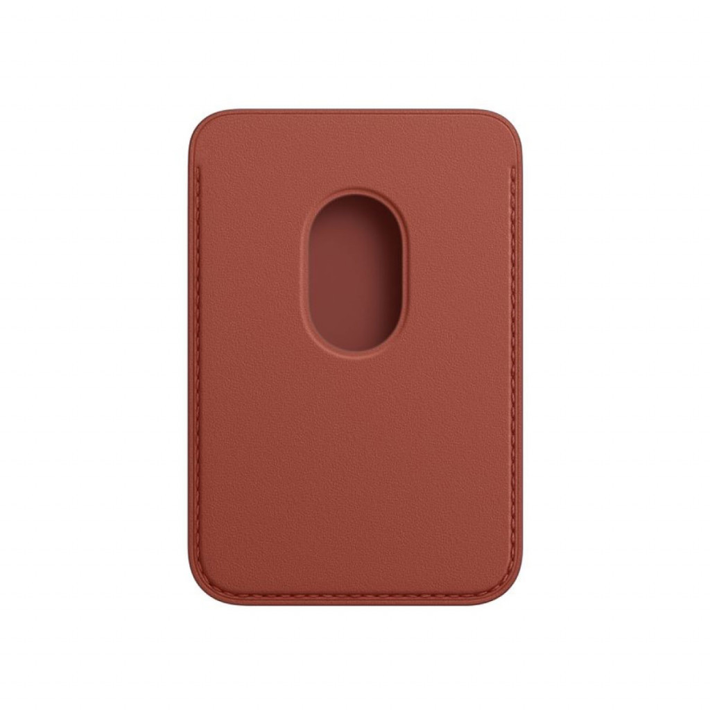 Apple Lommebok i skinn med MagSafe til iPhone – Arizonarød