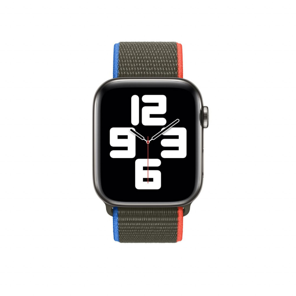 Apple Watch 44 mm Sport Loop - Olivengrønn