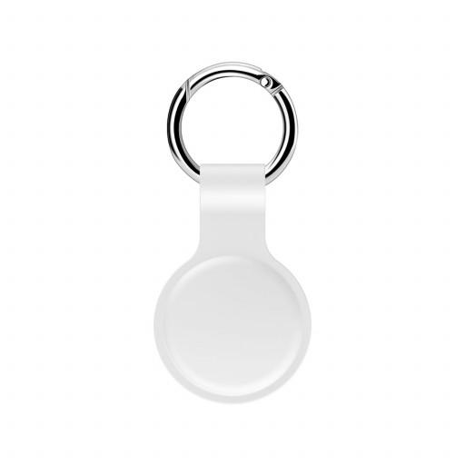 Sdesign AirTag Nøkkelring i silikon - Hvit