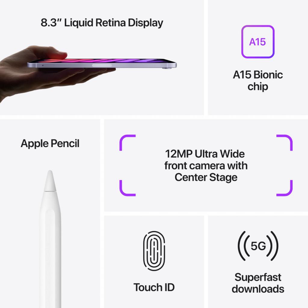 iPad mini Wi-Fi + Cellular 256GB Rosa