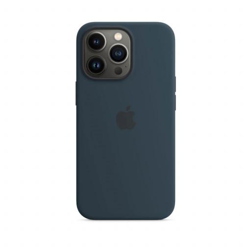 Apple Silikondeksel med MagSafe til iPhone 13 Pro – Havdypblå