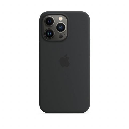 Apple Silikondeksel med MagSafe til iPhone 13 Pro – Midnatt