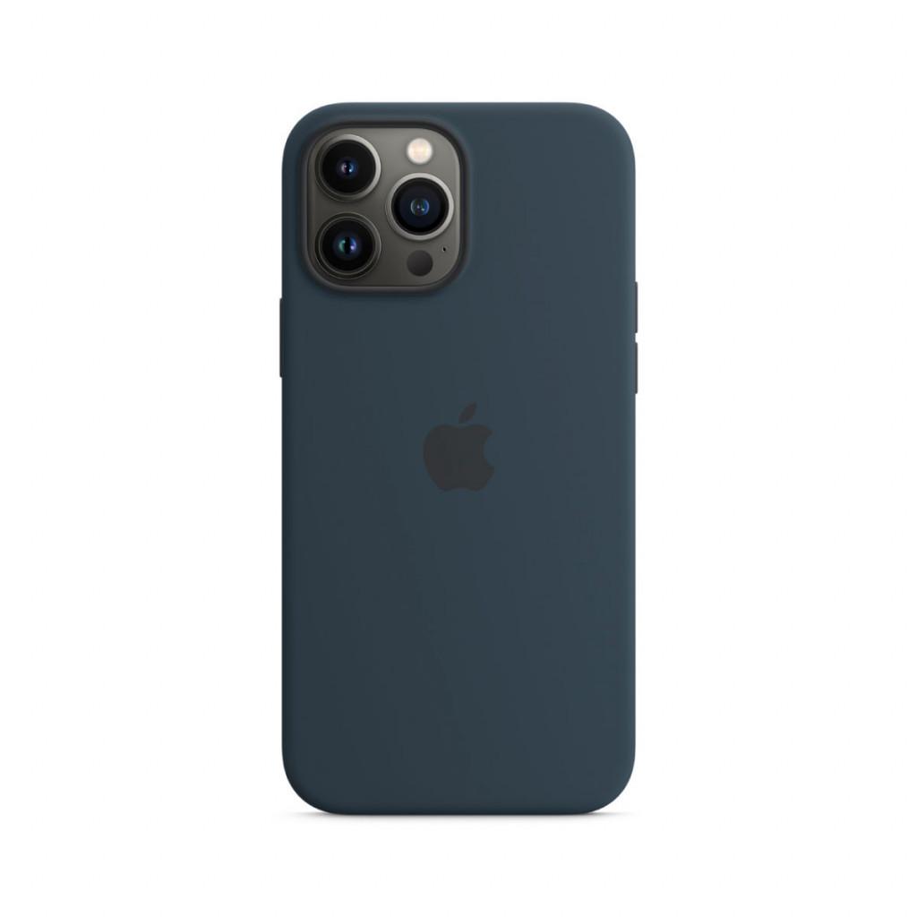 Apple Silikondeksel med MagSafe til iPhone 13 Pro Max – Havdypblå