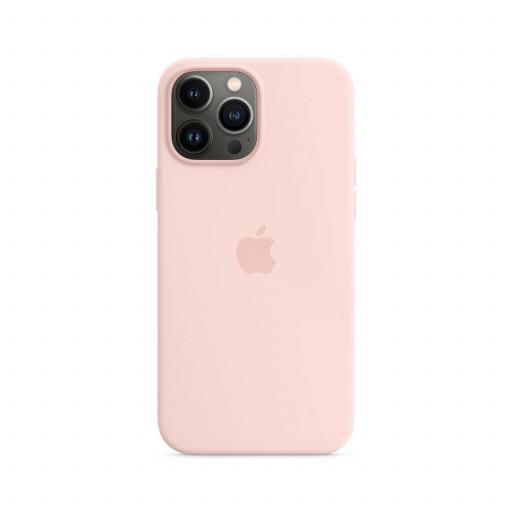 Apple Silikondeksel med MagSafe til iPhone 13 Pro Max – Krittrosa