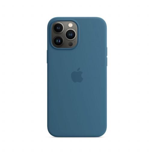 Apple Silikondeksel med MagSafe til iPhone 13 Pro Max – Dueblå