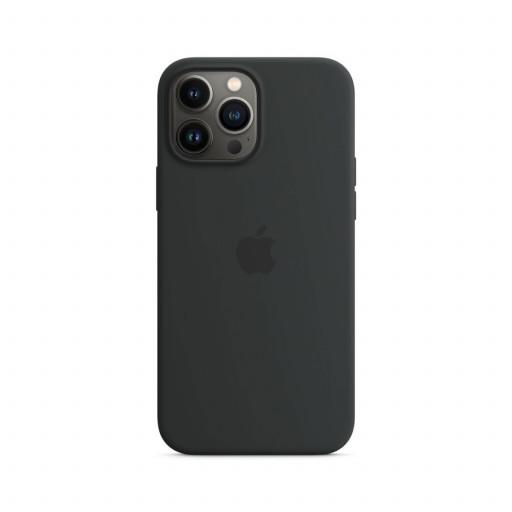 Apple Silikondeksel med MagSafe til iPhone 13 Pro Max – Midnatt