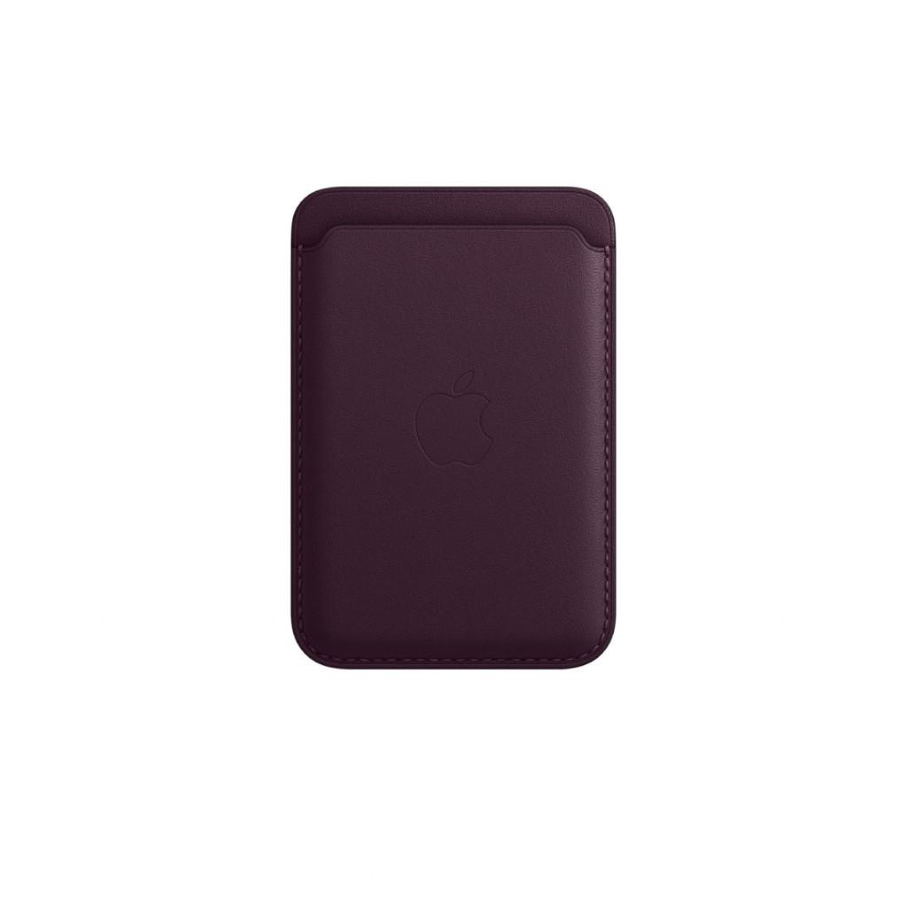 Apple Lommebok i skinn med MagSafe til iPhone – Mørk Kirsebær