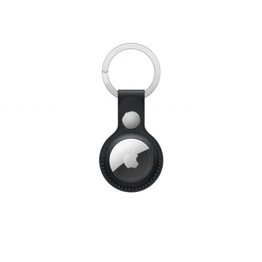 Apple AirTag Nøkkelring i skinn - Midnatt