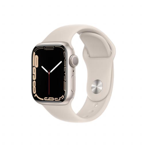 Apple Watch Series 7 GPS 41 mm – Aluminium i Stjerneskinn med Stjerneskinn Sport Band