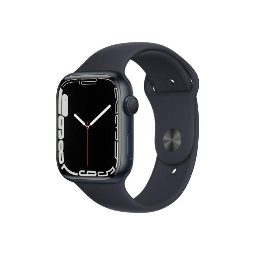 Apple Watch Series 7 GPS 45 mm – Aluminium i Midnatt med Midnatt Sport Band