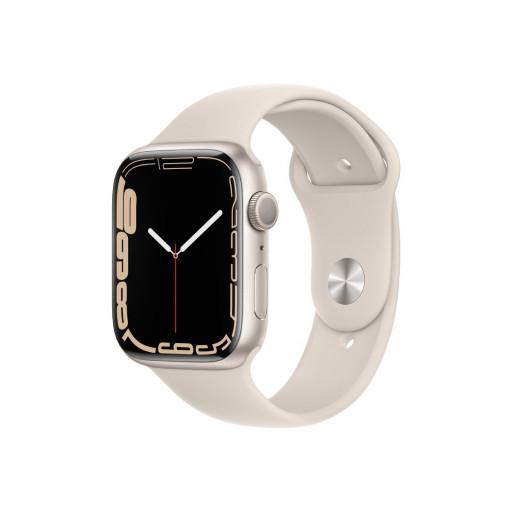 Apple Watch Series 7 GPS 45 mm – Aluminium i Stjerneskinn med Stjerneskinn Sport Band