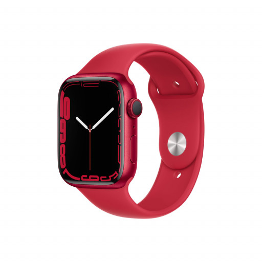 Apple Watch Series 7 GPS 45 mm – Aluminium i (PRODUCT)RED med (PRODUCT)RED Sport Band