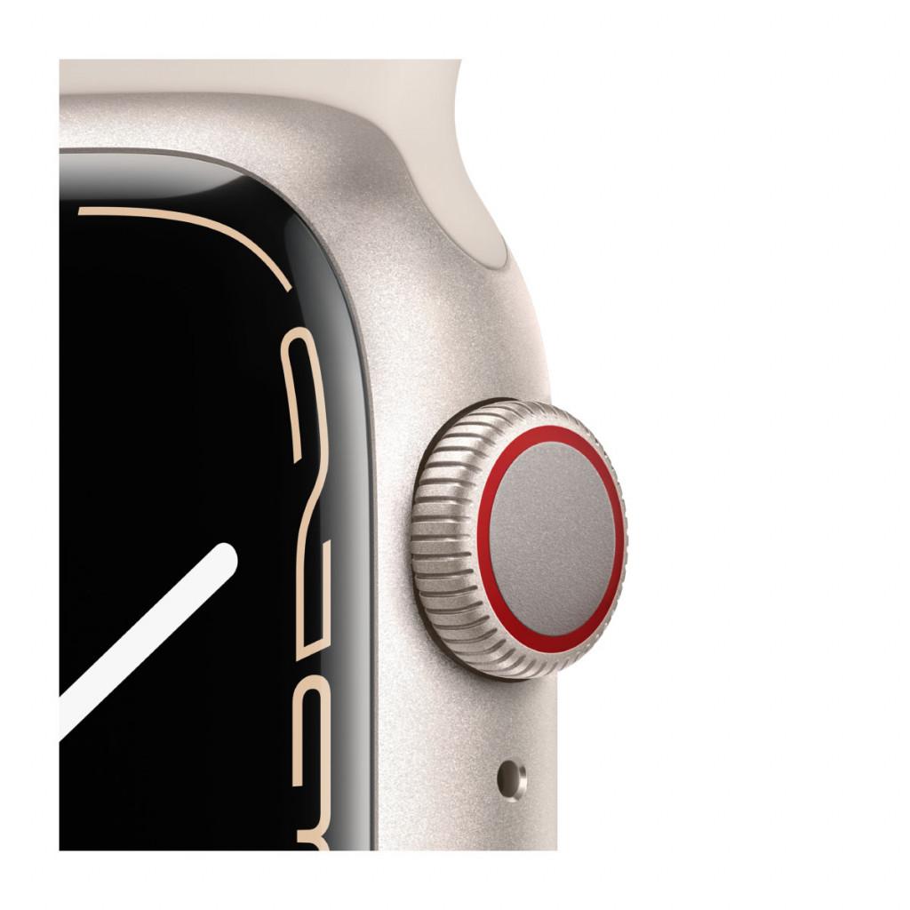 Apple Watch Series 7 Cellular 41 mm – Aluminium i Stjerneskinn med Stjerneskinn Sport Band
