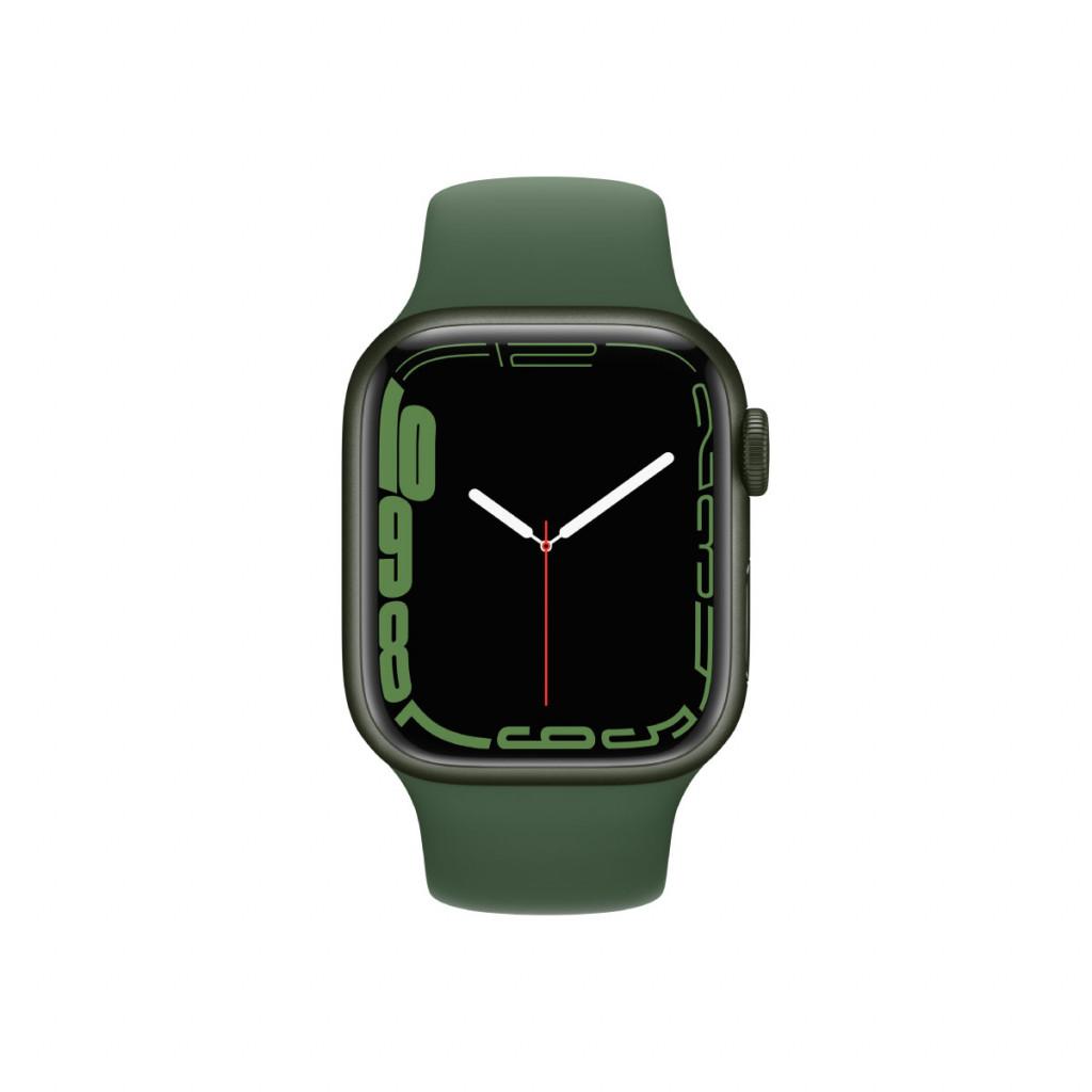 Apple Watch Series 7 Cellular 41 mm – Aluminium i Grønn med Kløver Sport Band