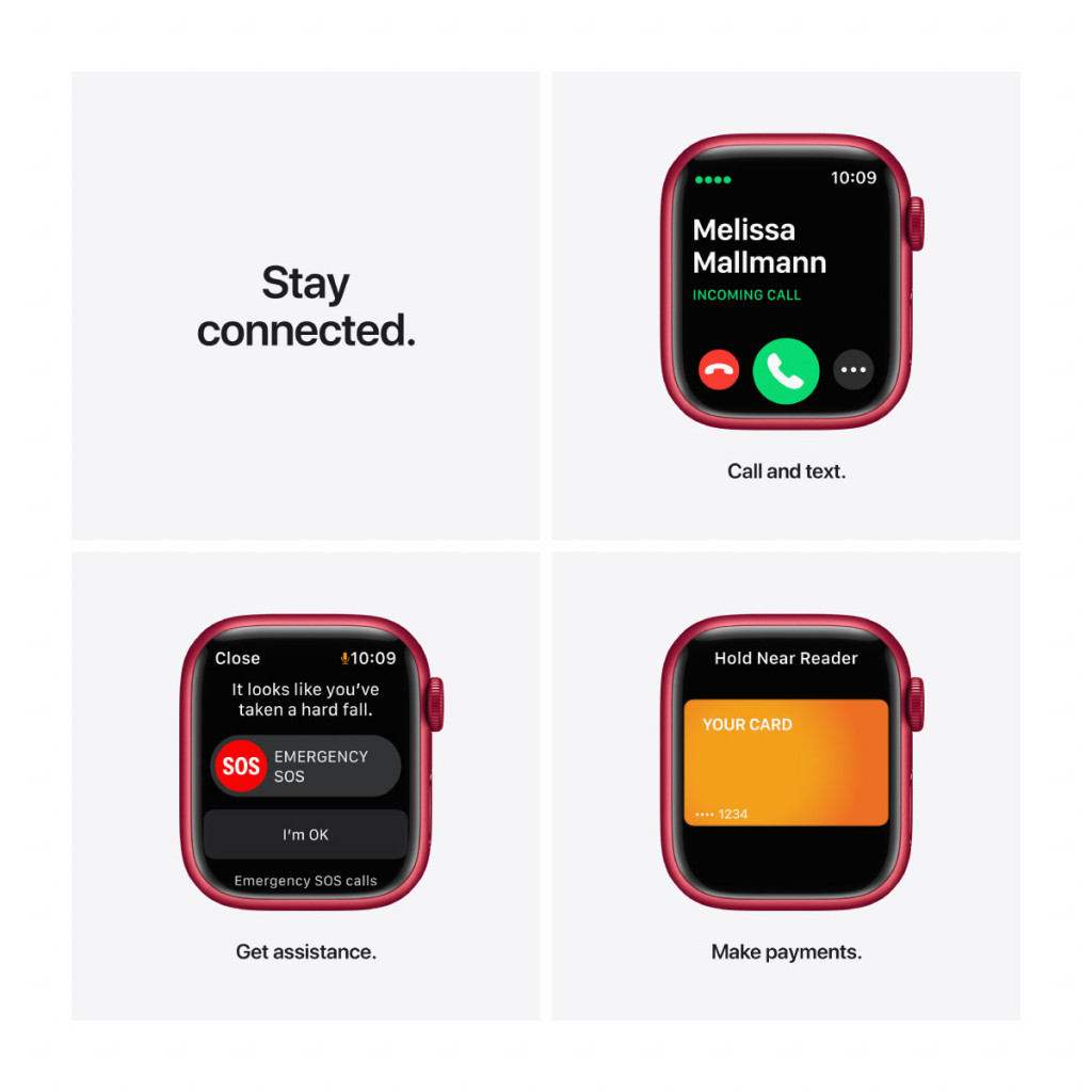 Apple Watch Series 7 Cellular 41 mm – Aluminium I (PRODUCT)RED med (PRODUCT)RED Sport Band