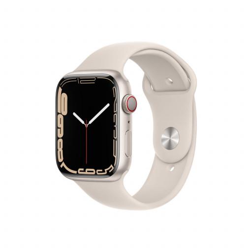 Apple Watch Series 7 Cellular 45 mm – Aluminium i Stjerneskinn med Stjerneskinn Sport Band