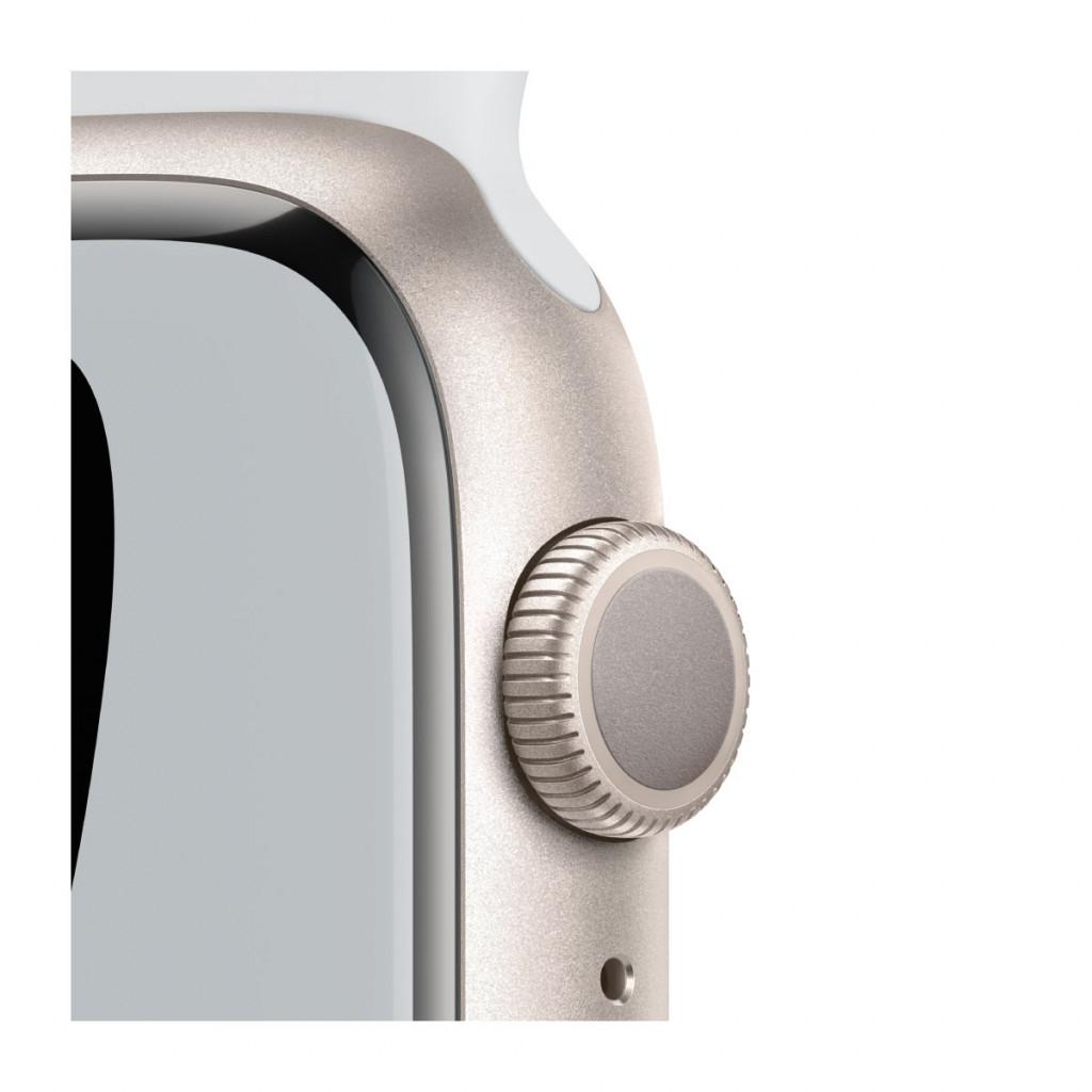 Apple Watch Nike Series 7 GPS 45 mm – Aluminium i Stjerneskinn med Pure Platinum/Black Sport Band