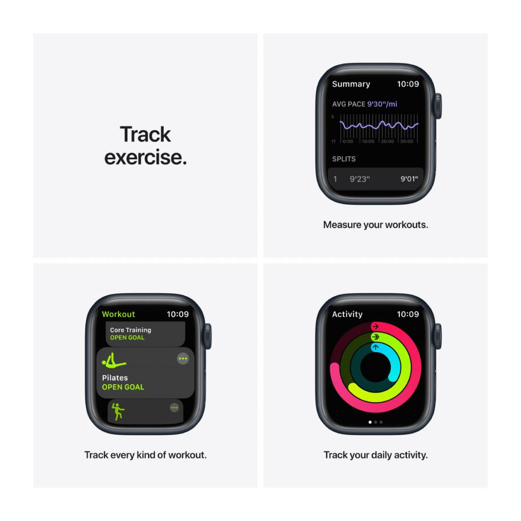 Apple Watch Nike Series 7 Cellular 41 mm – Aluminium i Midnatt med Anthracite/Black Sport Band