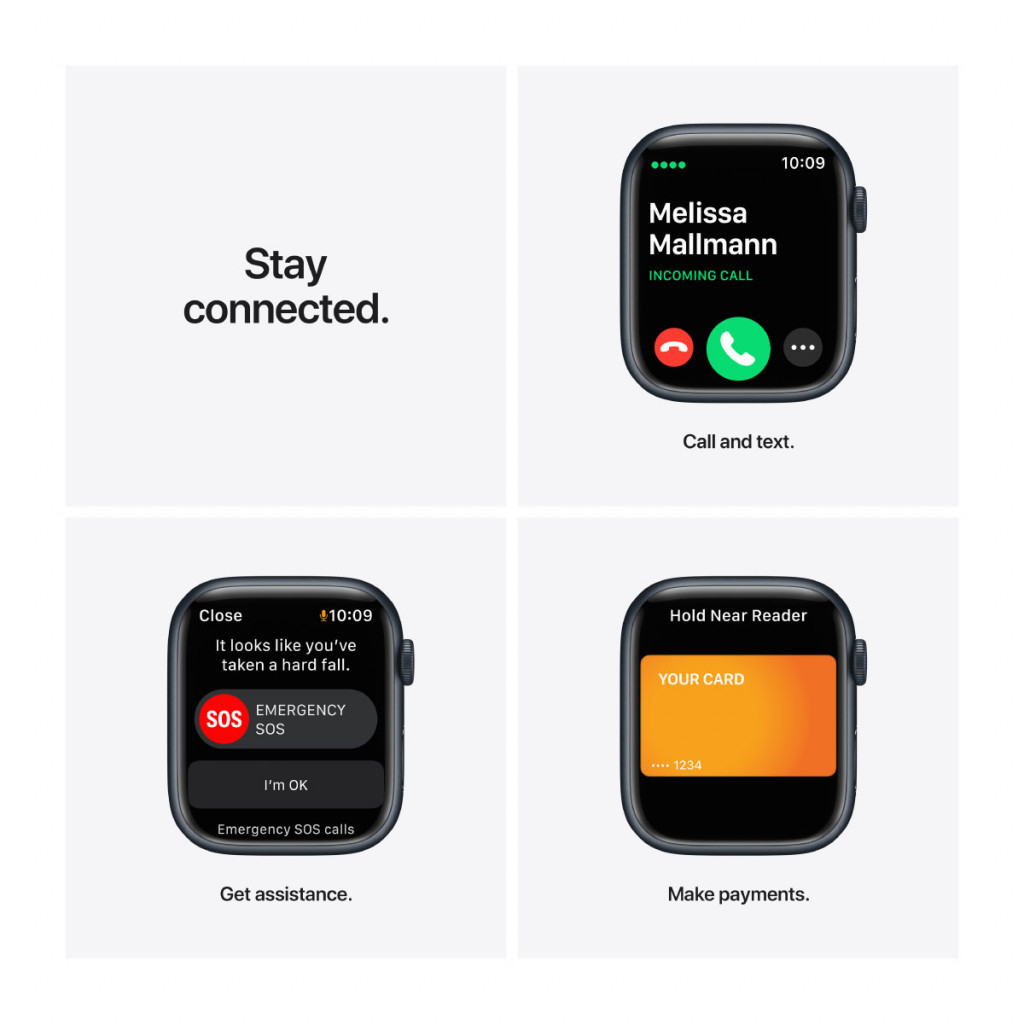 Apple Watch Nike Series 7 Cellular 45 mm – Aluminium i Midnatt med Anthracite/Black Sport Band